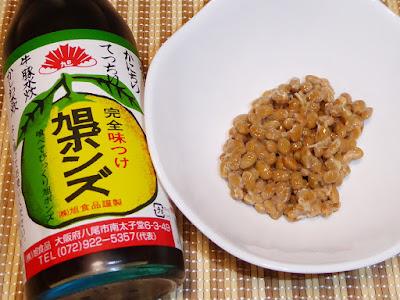 納豆に旭ポンズ(ポン酢しょうゆ)