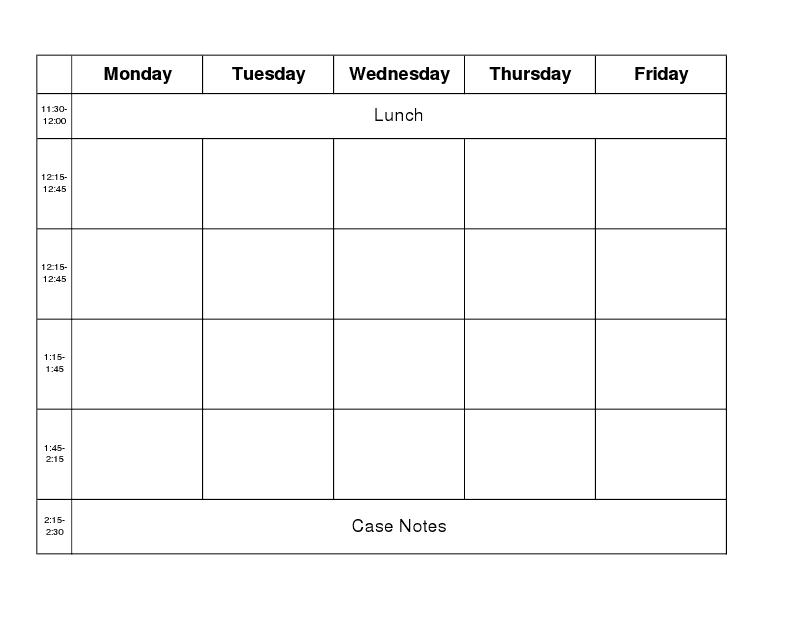 Weekly School Schedule Template. blank timetable blankweek ...