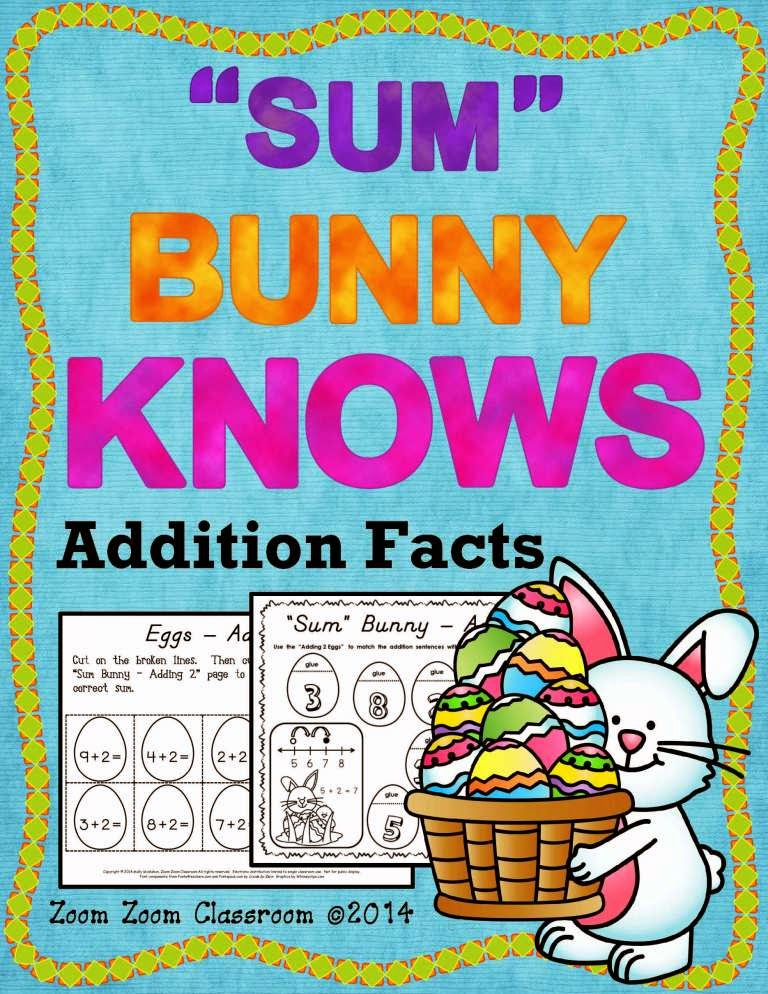 http://www.teacherspayteachers.com/Product/Spring-Additon-Facts-Sum-Bunny-Knows-Additon-Facts-1173716