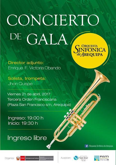 Concierto de Gala de la Orquesta Sinfónica de Arequipa