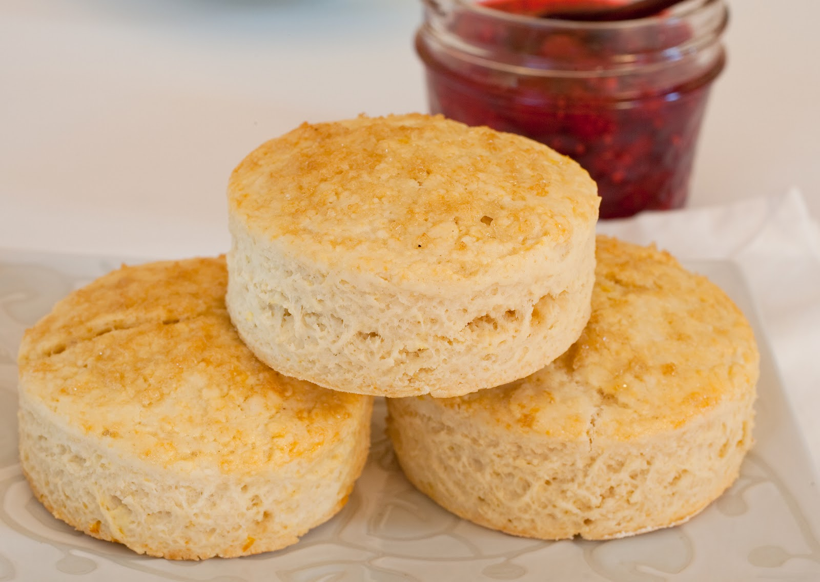 ... Dreams: Brown Sugar Buttermilk Scones with Homemade Raspberry Jam
