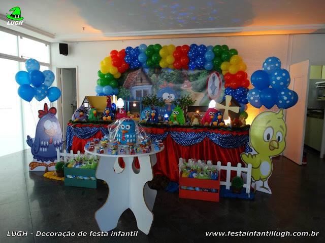 Mesa temática Galinha Pintadinha - Decoração infantil - Festa de aniversário - Tradicional luxo