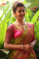 Actress Nikki Galrani Latest Pos in Saree Neruppu Da Movie Audio Launch  0015.jpg