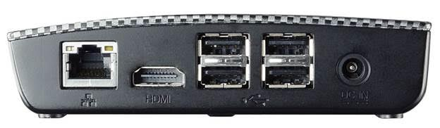 BIOSTAR RACING P1 Mini PC Rear