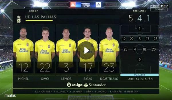 Video Real Madrid 3 - 0 Las Palmas La Liga Vòng 11