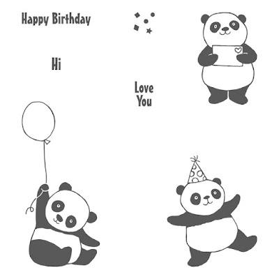 Party Pandas, Stampin' Up!