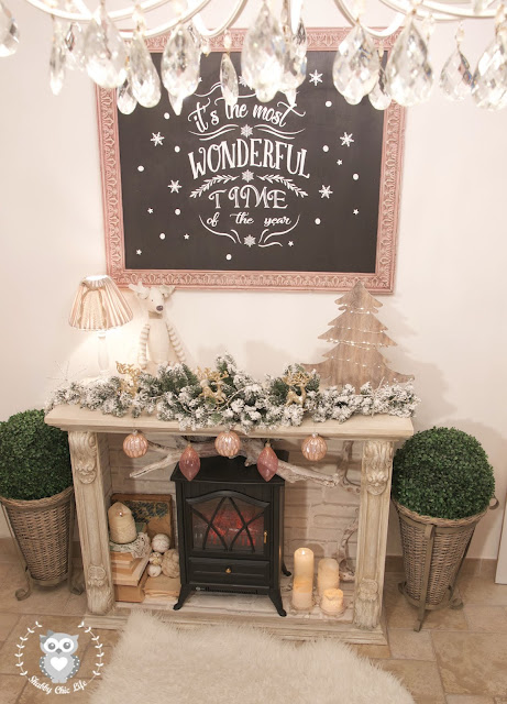 caminetto, shabby chic, prima e dopo, decora facile, chalk paint