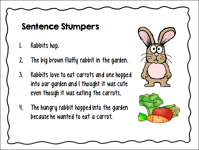Corkboard connections teaching kids to write super sentences for Cuisine sentence