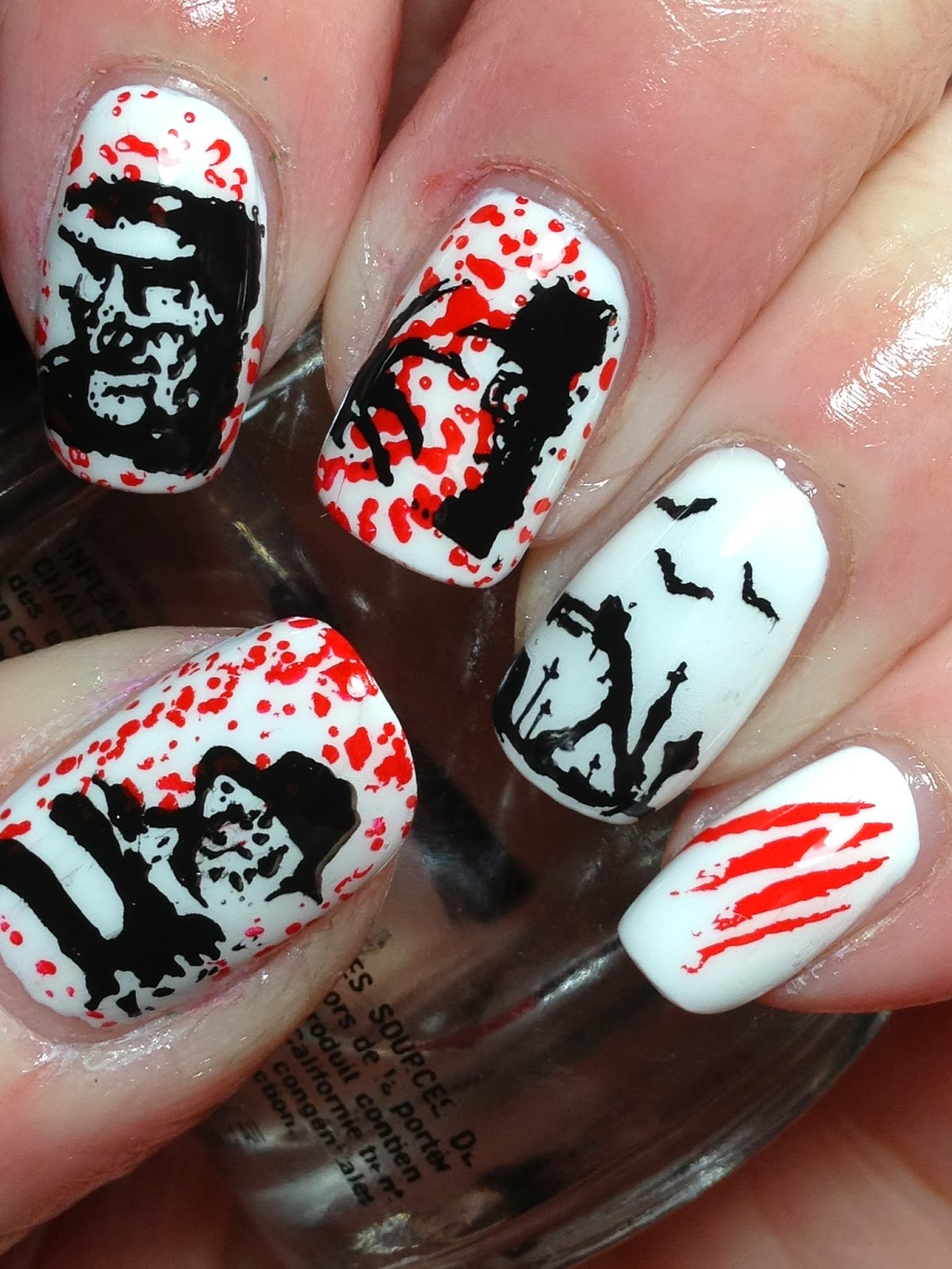 Halloween Nails: Canadian Nail Fanatic: Freddy Krueger (and Vote Over At