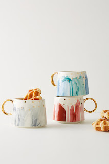 I love Anthro's kitchenware and am getting these coffee mugs from the sale!