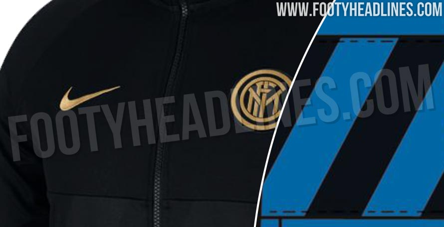 Diagonal Stripes Confirmed  2 Nike Inter Milan 19-20 Anthem Jackets Leaked 843ad541c