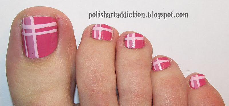 Pink Plaid Piggies