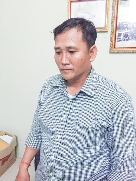 Sum Veng was arrested for pointing a gun at a security guard. Supplied