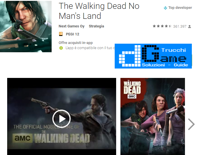 Trucchi The Walking Dead No Man's Land Mod Apk Android v2.3.0.49