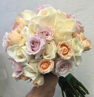 Pastel Rose Wedding Bridal Bouquet by Stein Your Florist Co.