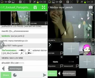 Tampilan Aplikasi Camfrog Pro Video Chat