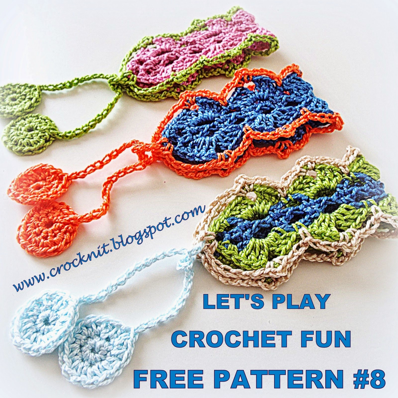 MICROCKNIT CREATIONS: LET\'S PLAY - CROCHET FUN - FREE PATTERN #8