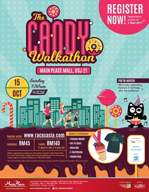 The Candy Walkathon 2017 @ Main Place Mall, USJ