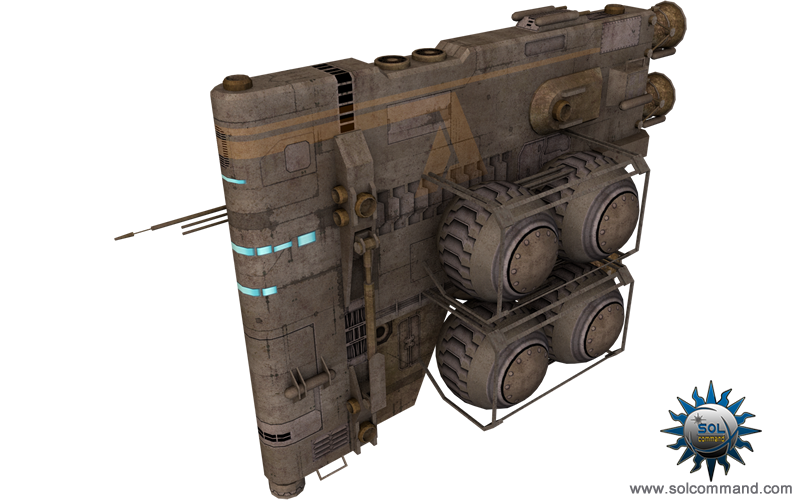 tardigrade refueling space ship fuel hauler transport cargo gas harvest free download 3d model solcommand