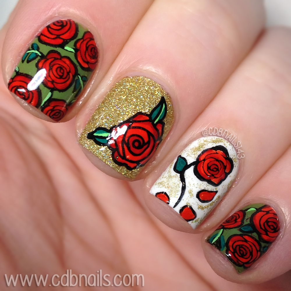 This Weeks Theme Is Beauty And The Beast Which Mainly Led To Planner Spread Mani Full Of Roses Haha