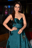 Raashi Khanna in Dark Green Sleeveless Strapless Deep neck Gown at 64th Jio Filmfare Awards South ~  Exclusive 005.JPG