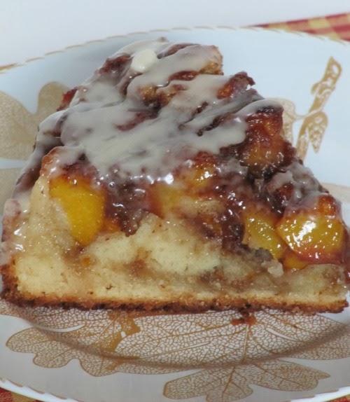 Recipe for vanilla peach coffee cake