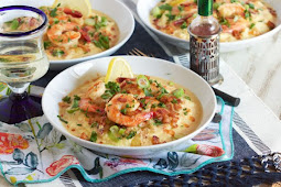 CHEESY SHRIMP AND GRITS #healthy #recipe