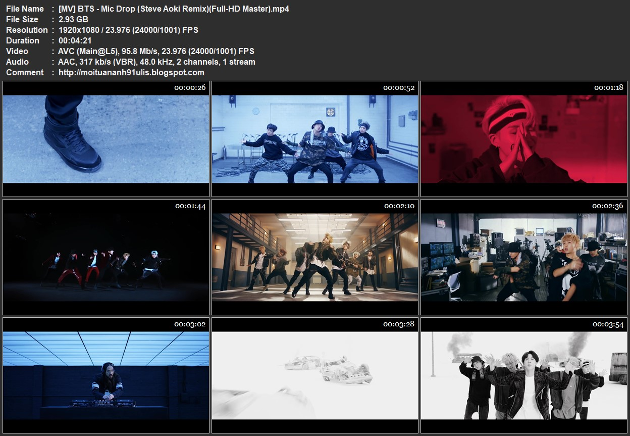 mv bts mic drop