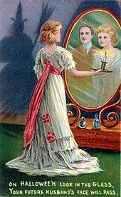 https://en.wikipedia.org/wiki/Bloody_Mary_(folklore)#/media/File:Halloween-card-mirror-2.jpg