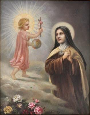 Resultado de imagen para santa teresita del niño jesus con el niño jesus