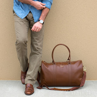 personalized gift idea for him - weekender bag