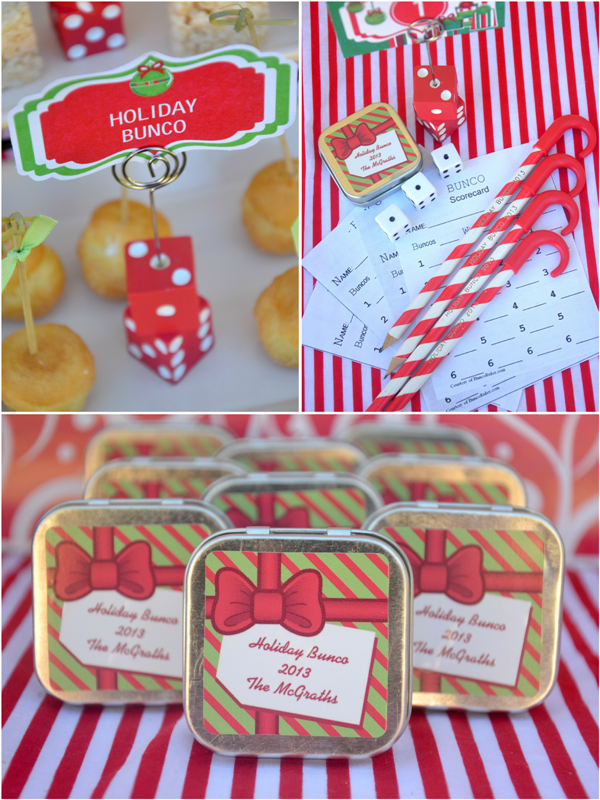 Bunco Christmas Party Ideas Part - 25: Fun Christmas Holiday Bunco Party Ideas - BirdsParty.com