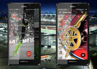 BBM MOD Tema Arsenal Versi Terbaru v3.1.0.13 APK