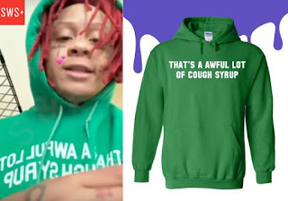 That's a awful lot of cough syrop green pullover hoodie