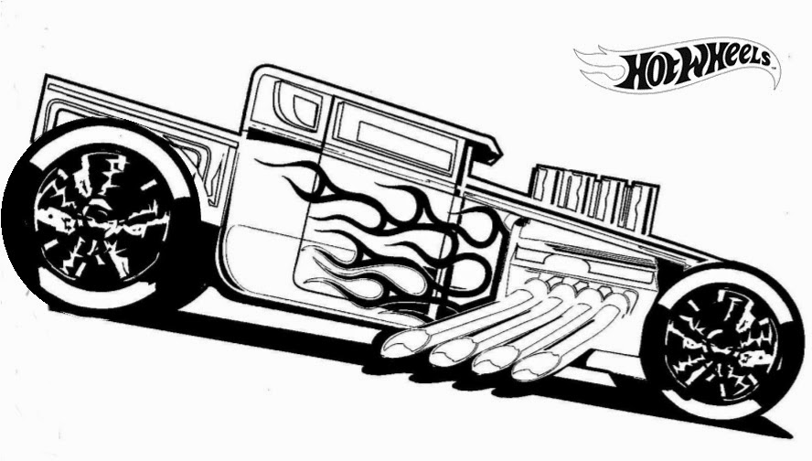 hot wheel coloring pages # 19