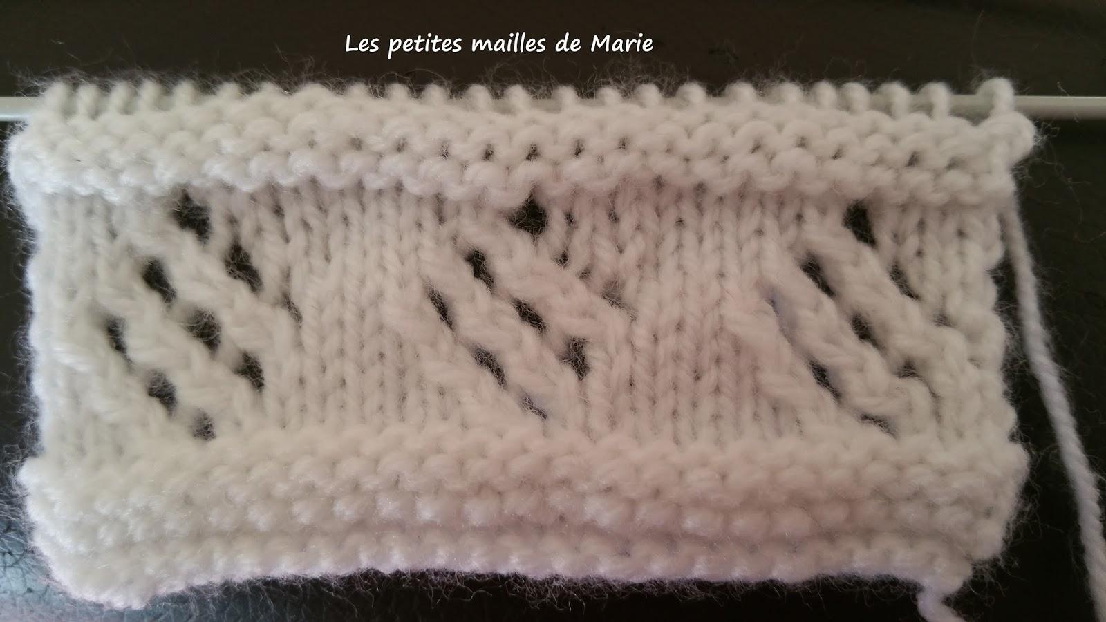 Les petites mailles de marie point losange ajour - Point tricot ajoure facile ...