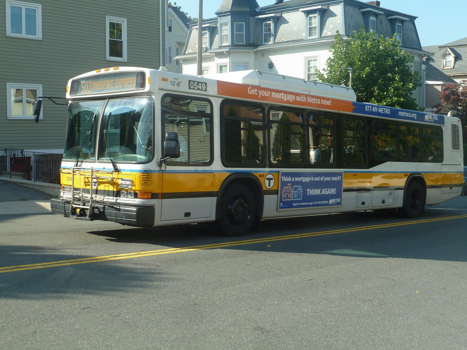 Miles On The Mbta 503 Express Bus Brighton Center