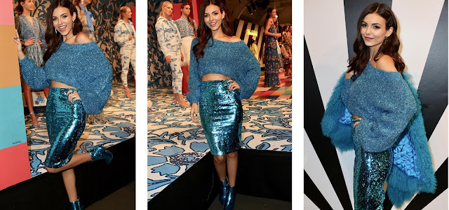 Victoria Justice at Alice - Olivia By Stacey Bendet Fashion Show (2018)