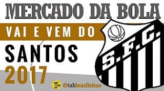 Mercado da Bola 2017: Santos e o vai e vem do mercado (tab BRASILEIRÃO)