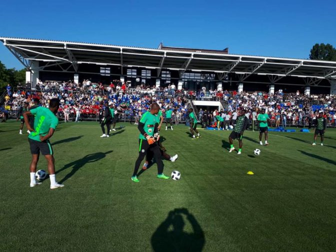 Super Eagles Begin Their First Training In Russia Ahead Of World Cup (Photos)