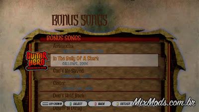 gh3 guitar hero III mod warriors of rock WOR zones playlist