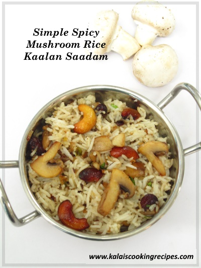 mushroom kaalan rice