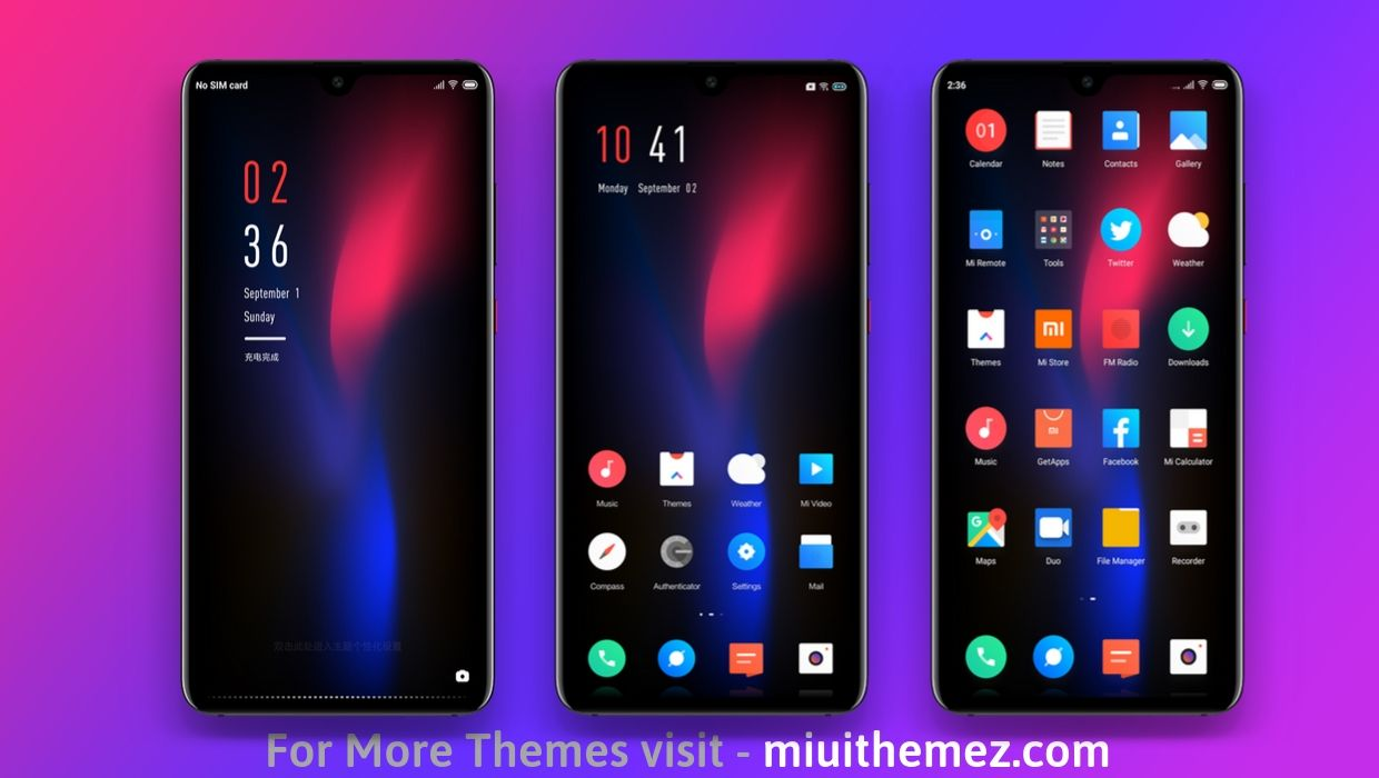 Biger Dark MIUI 10 Theme Download
