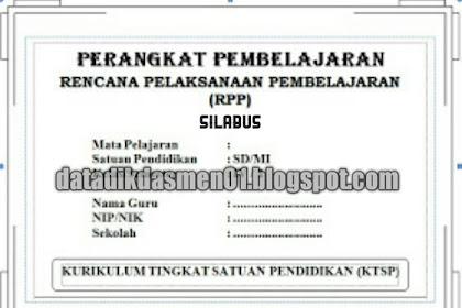 Download Silabus Tematik Untuk Kelas 1 SD/MI Kurikulum 2013