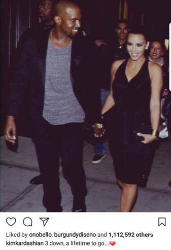 Kim Kardashian believes she and Kanye West will spend the rest of their lives together!