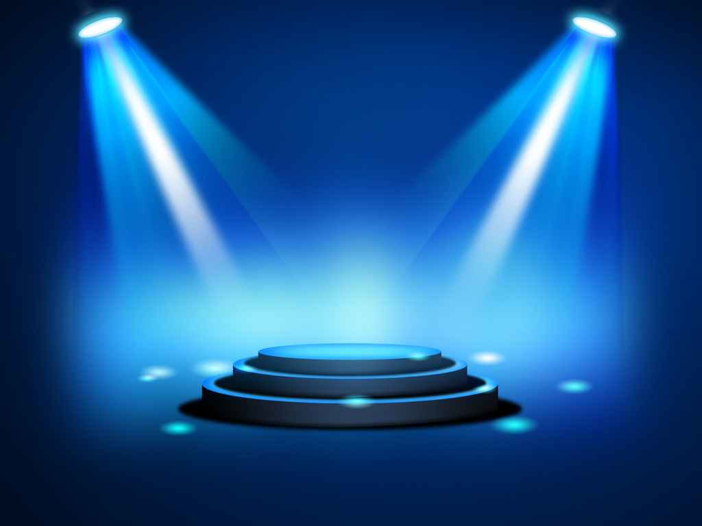 3d Light Effects Ppt Background