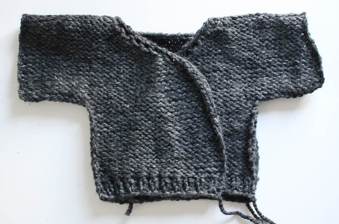 Toddler Kimono Sweater Beginner Knitting Pattern