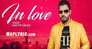 In Love Lyrics | Kaler Kanth | Punjabi Songs