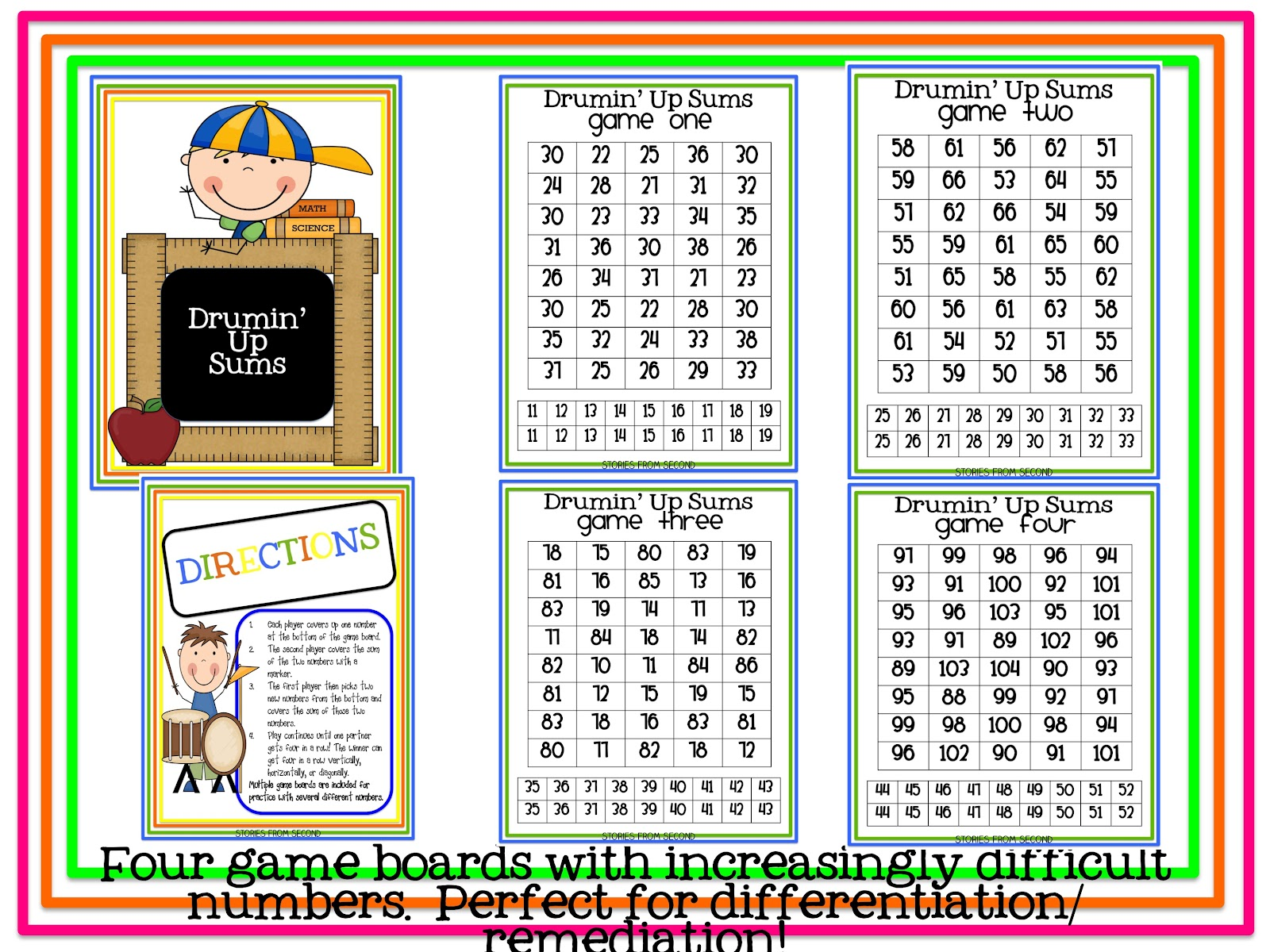 Fourth And Ten Double Digit Addition Activities Giveaway