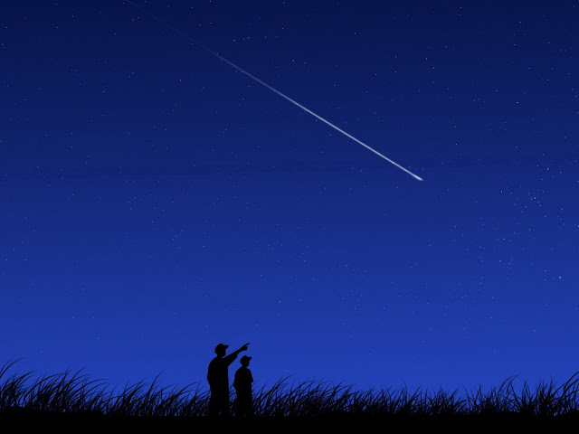 shooting star Perseid meteor shower images